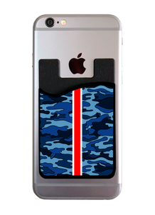 Navy Camo Red Stripe Card Caddy