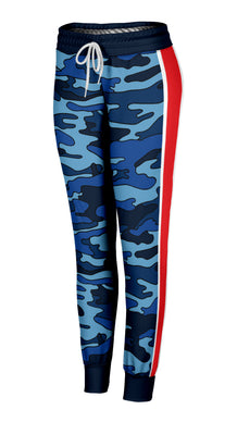 Navy Camo Red Stripe Joggers