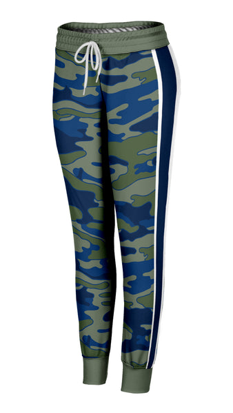 Olive and Navy Camo Joggers