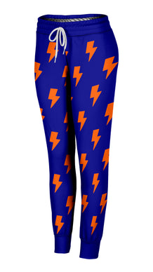 Blue & Orange Lightning Bolts Joggers