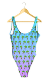 Palm Trees Ombre One-Piece