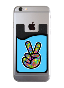 Peace Fingers Blue Card Caddy