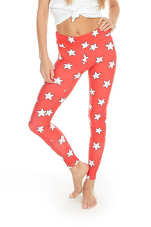 Red & White All-Star Leggings