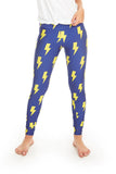 Blue & Yellow Lightning Bolts Leggings
