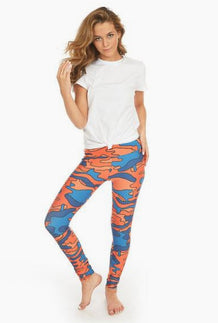 Orange & Blue_ Colored Camouflage Leggings