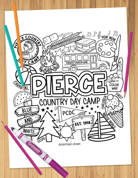 Pierce Day Camp Coloring Sheet
