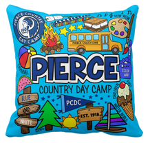 Pierce Day Camp Collage Throw Pillow