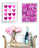 Painted Hearts Framed Print
