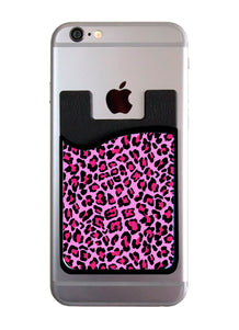 Pink Cheetah Card Caddy