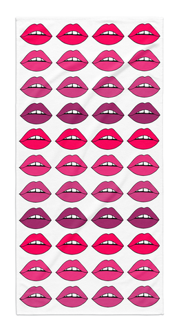 Pink Ombre Lips Towel