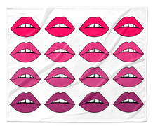 Pink Lips Ombre Blanket