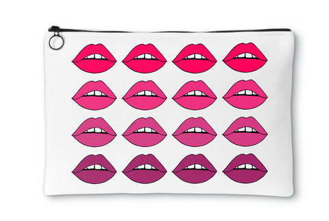 Pink Lips Ombre Accessory Pouch
