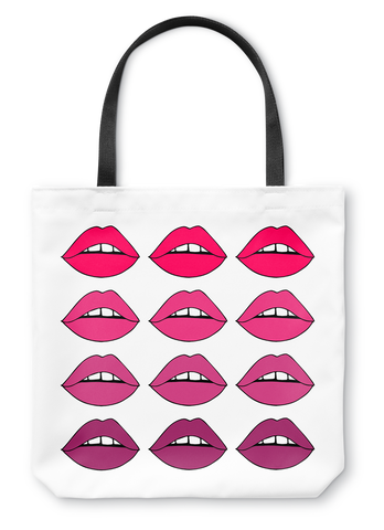 Pink Lips Ombre Tote Bag