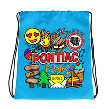 Camp Collage Drawstring Bag