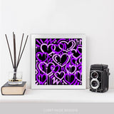 Purple Electric Love Framed Print
