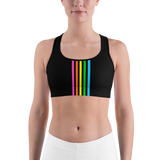 Rainbow Stripe Sports Bra