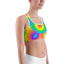 Rainbow Tie Dye Sports Bra