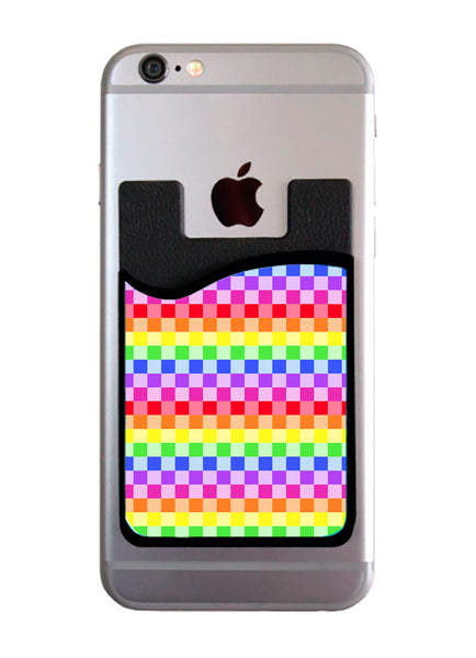 Rainbow Checkered Card Caddy