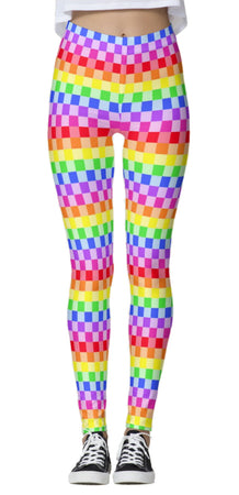 Rainbow Checkered Leggings