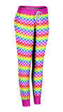 Rainbow Checkered Joggers