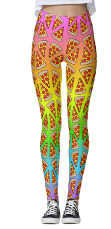Pizza Rainbow Ombre Leggings