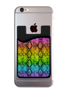 Rainbow Snakeskin Card Caddy
