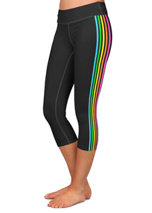 Rainbow Side Stripe Capris