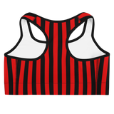 Colored Striped Sports Bra