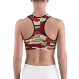 Colored Camo Sports Bra