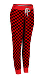 Red & Black Checkered Joggers