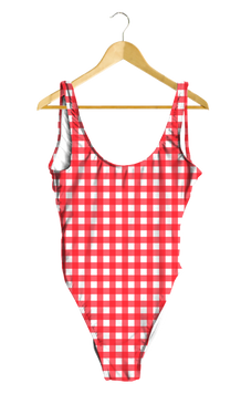Red Gingham One-Piece