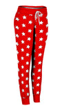 Red & White All-Star Joggers