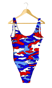 Red, White & Blue Camo One-Piece
