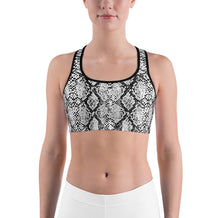 Gray Snakeskin Sports Bra