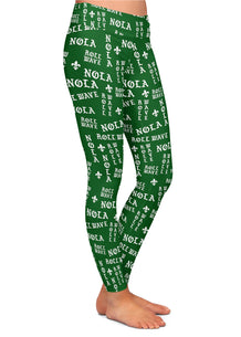 NOLA Roll Wave Gothic Letters Leggings