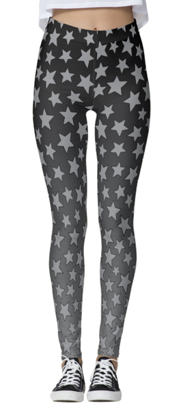 Gray Starry Ombre Leggings