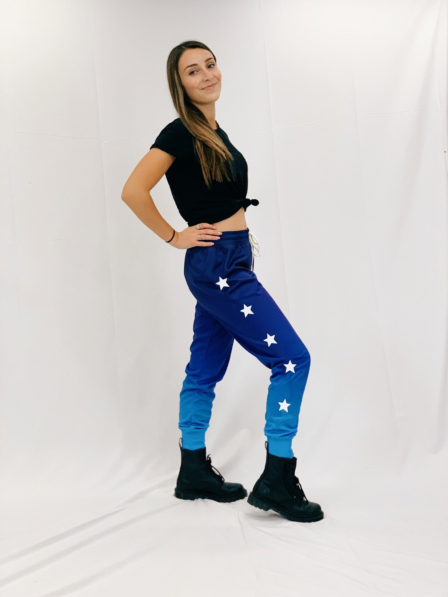 Side Star Blue Ombre Joggers
