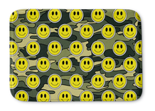 Smiley Green Camo Bathmat