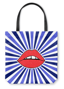 Starburst Lips Tote Bag