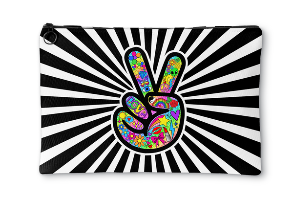 Funky Peace Sign Accessory Pouch