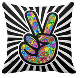 Peace Out Throw Pillow