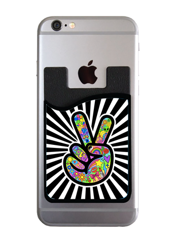Funky Peace Sign Card Caddy