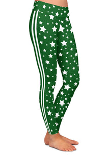 Stars & Stripes Green Leggings