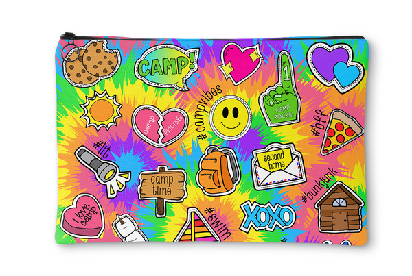 Tie Dye Camp Accessory Pouch