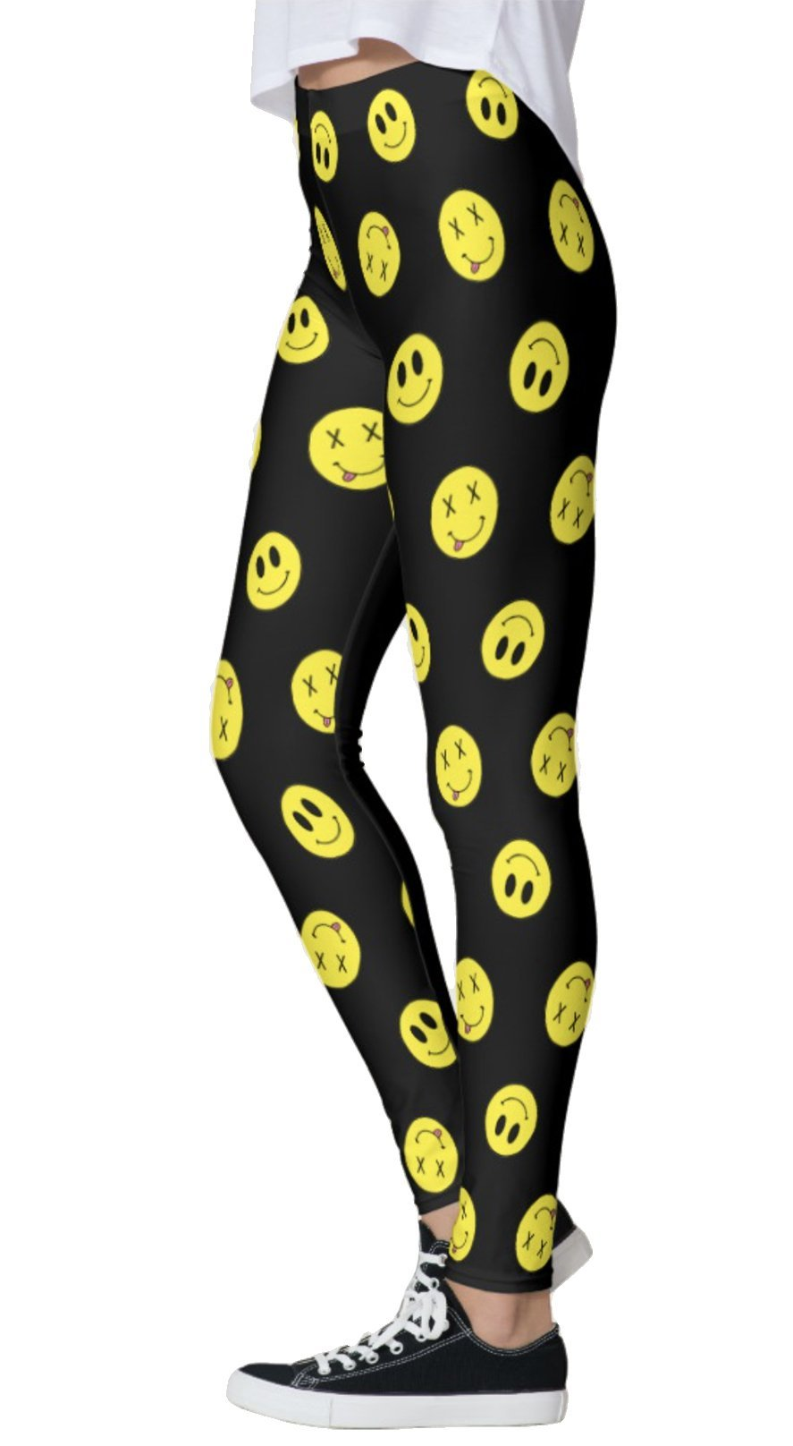 Tilted Smiley Leggings