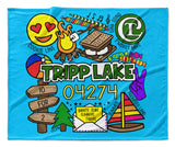 Camp Collage Blankets