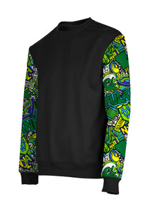 Tulane Collage Sleeves Crew Neck