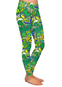Tulane Collage Leggings
