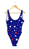 Red & White Stars on Blue One-Piece