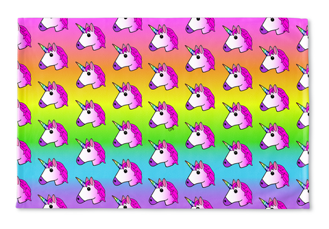 Unicorn Rainbow Ombre Floormat